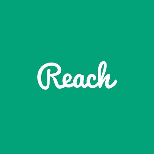 Create an appealing and modern logo for new chat app called Reach
