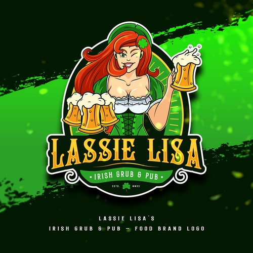 Food Brand Logo design for Lassie Lisa's