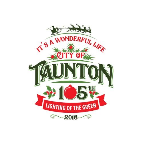 """Christmas logo """"City of Tauton"""""""