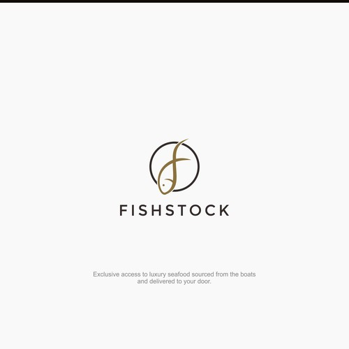 Simple & modern logo for fishstock