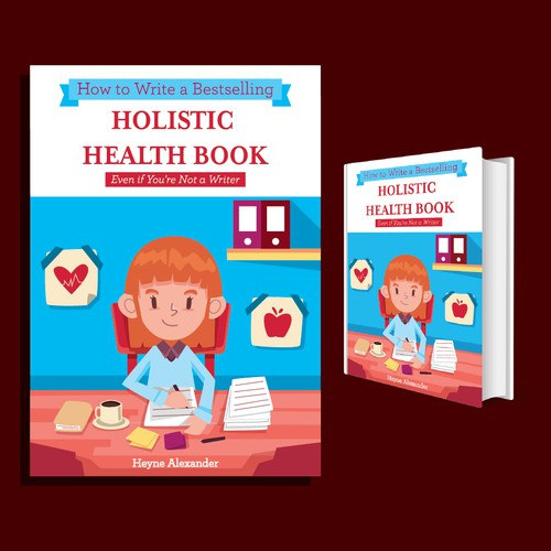 Create a Cartoony Kindle Book Cover for Aspiring Health Book Authors