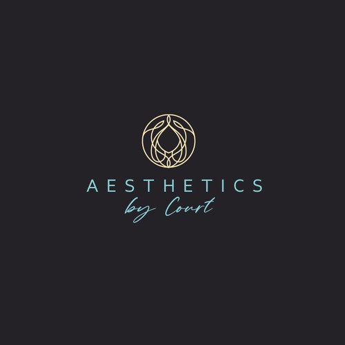 Elegant Face and Hair logo for Aesthetics