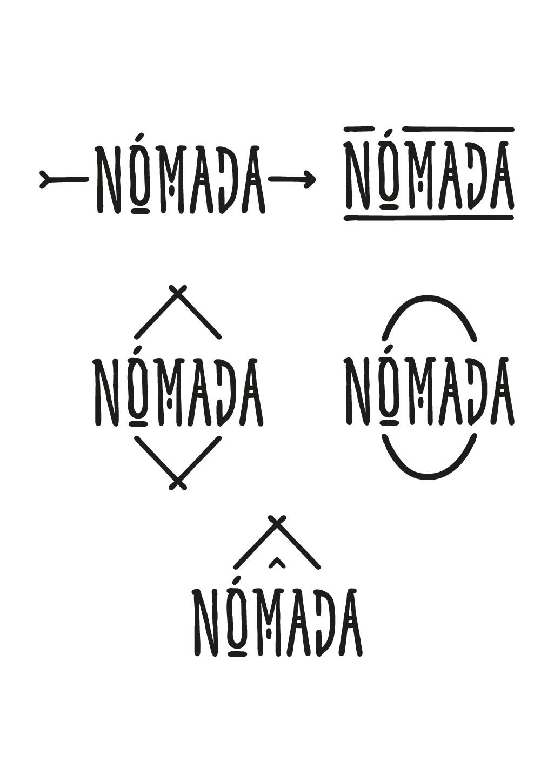 LOGO COOL Y SIMPLE PARA RESTAURANTE NÓMADA
