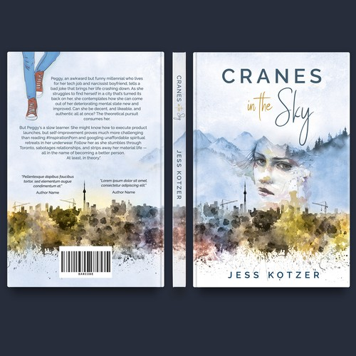 """""""Cranes in the Sky"""" book cover"""