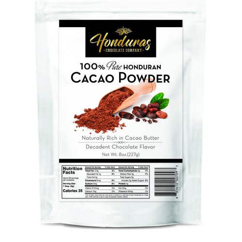 Label for Cacao Powder