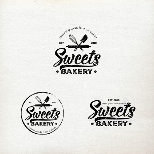 Logo for a small town bakery. Cupcakes, cakepops, buns, cookies etc. Baked goods from scratch