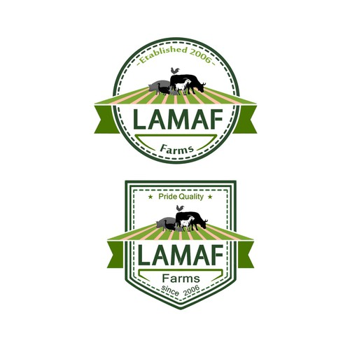 Logo concept for LAMAF Farms