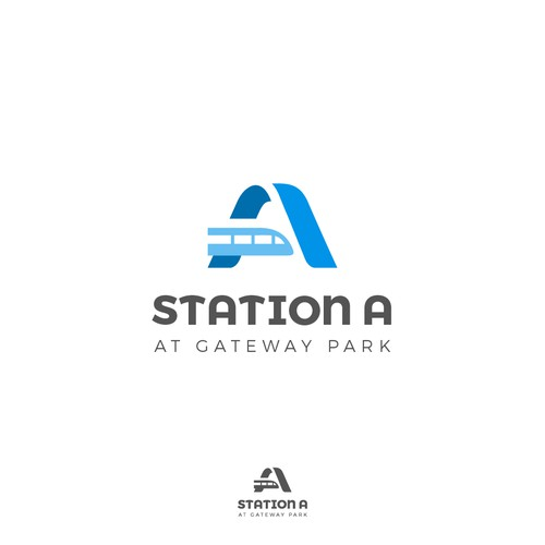 """A"" train logo concept for Station A."