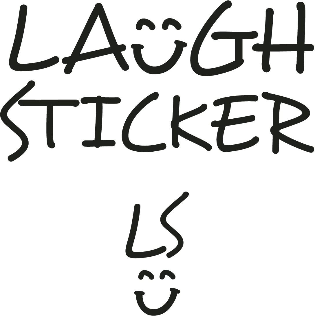 WANTED: Logo design for Laugh Sticker / おもしろステッカーを販売するLaugh Stickerをイメージさせるロゴをデザインしてください
