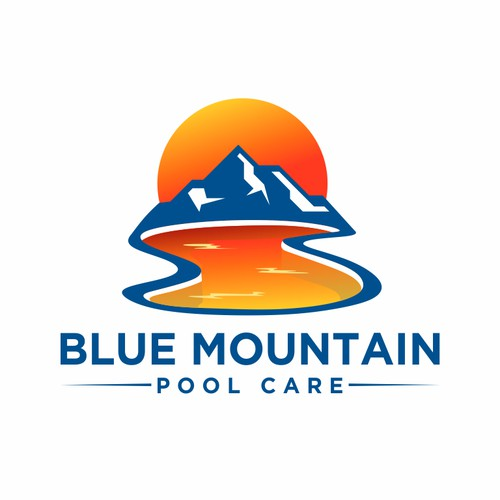 Logo for blue mountain pools