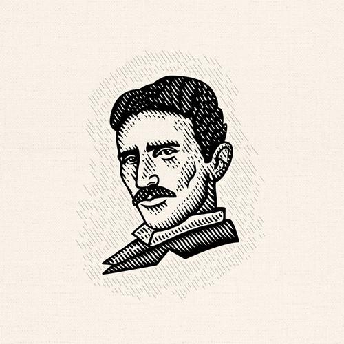 Nikola Tesla famous portrait