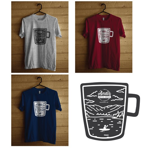 Coffee and Mountain Tees