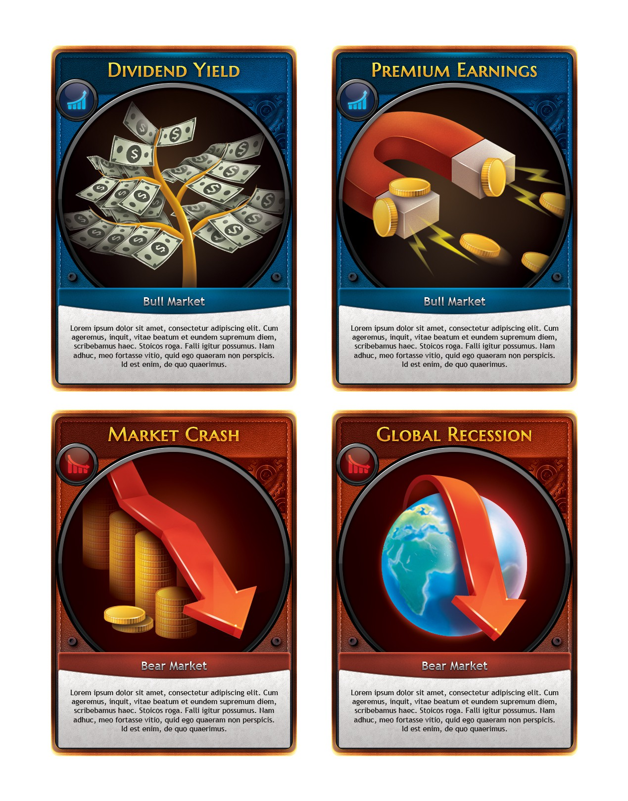 Impactful illustrations for a new strategy card game