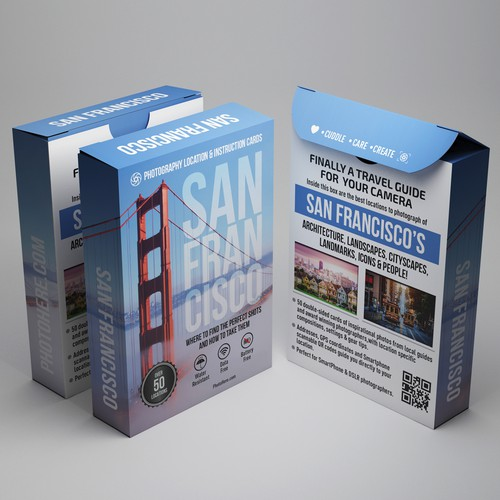 Design Travel Guide Card Deck Box for use on web and print