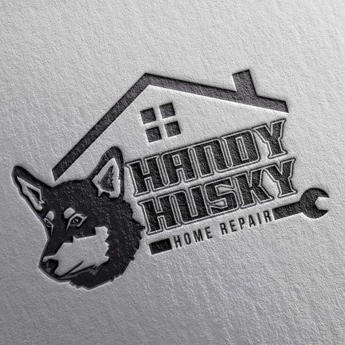 Handy Husky Logo Concept