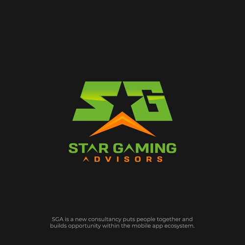SGA with negative space Star