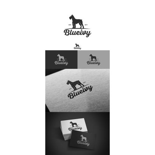 Brand identifying logo for outdoorsy dog accessory company.