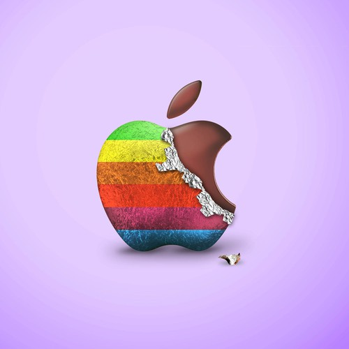 Simple Chocolate Apple logo for our Easter ad in the future