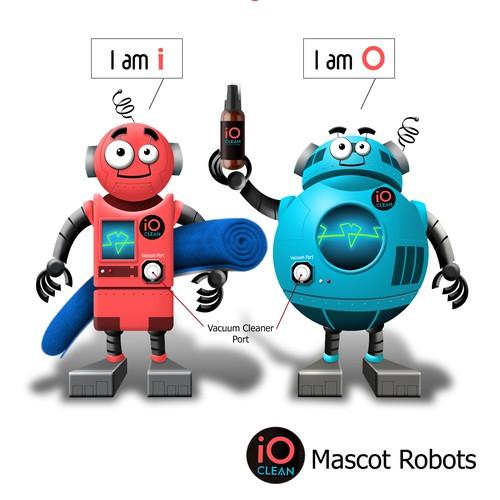 Mascot Robot i and O