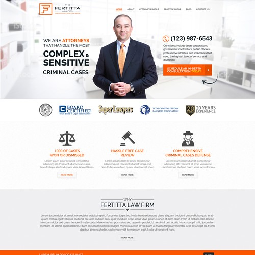 The Fertitta Law Firm Website Project