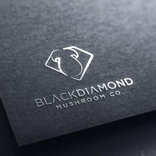 Black Diamond Mushroom Co. Logo