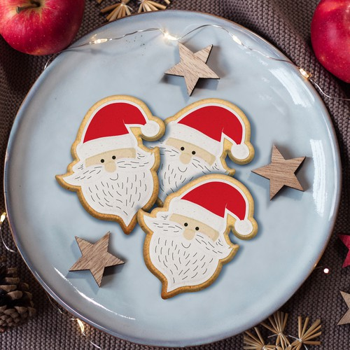 Christmas cookie design illustration