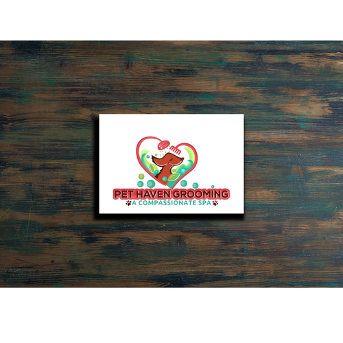 Logo for Pet grooming spa