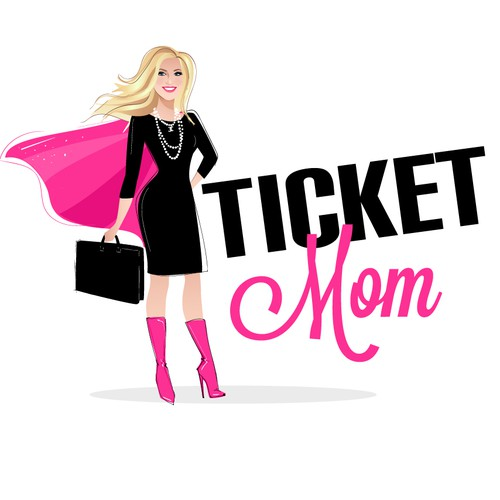 Fun superhero mom logo