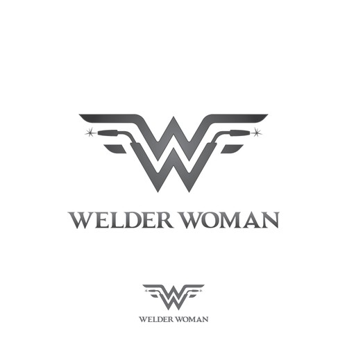 Welder Woman logo design