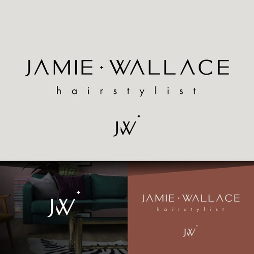 Logo for a hairstylist