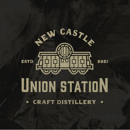Logo for a craft whiskey distillery