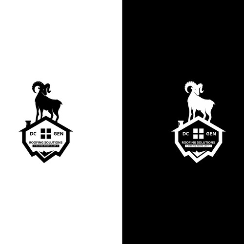 Powerful Goat logo for a new roofing initiative