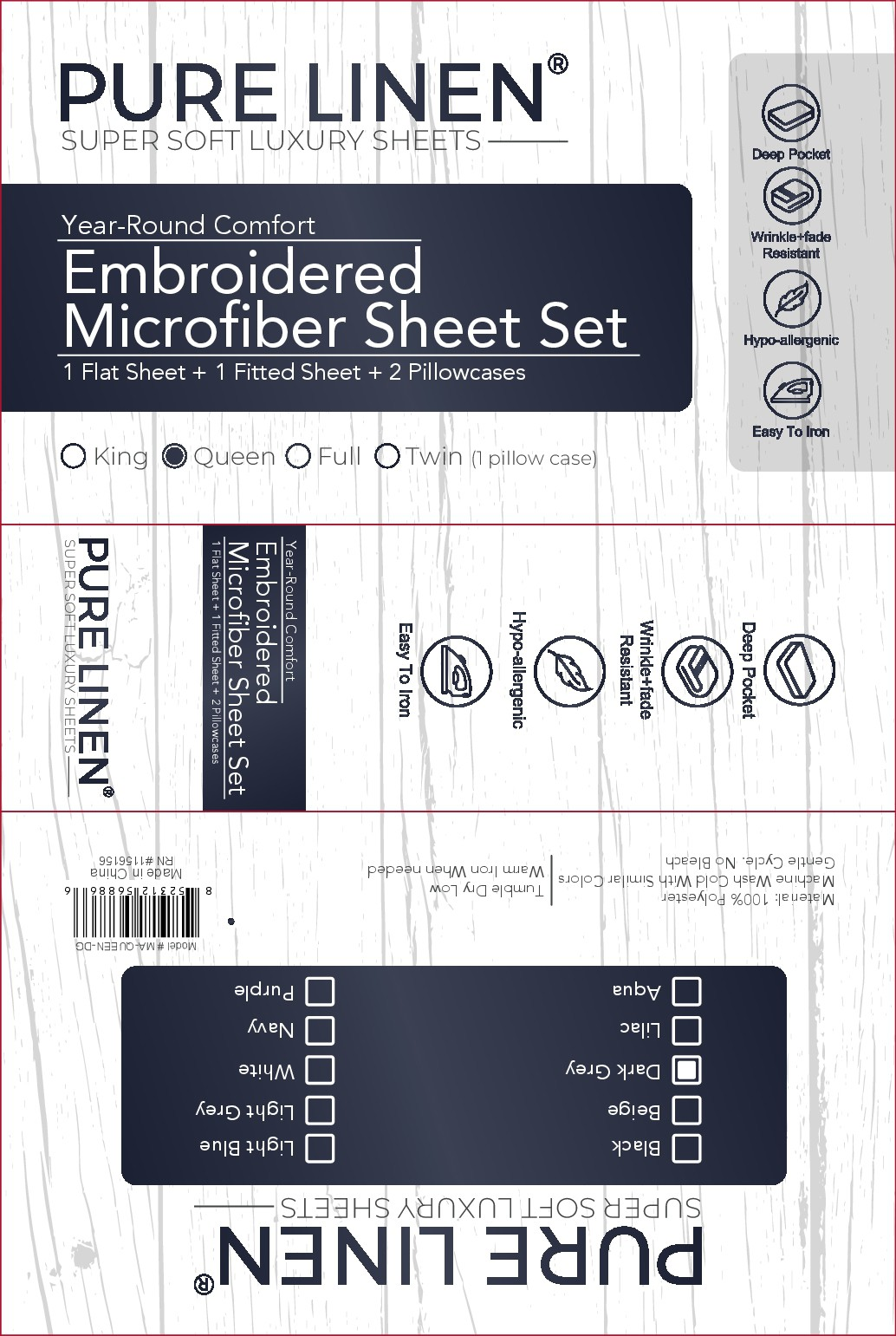 Pure Linen Bed Sheets Design Layout