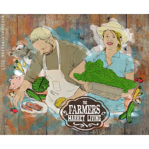 illustration for Farmers Market Living