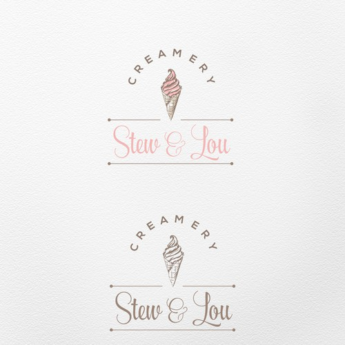 Hand drawn logo for the Creamery
