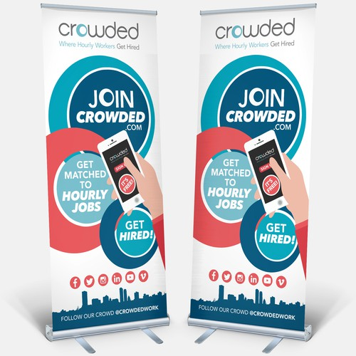 AWESOME eye catching banner for hot tech startup!
