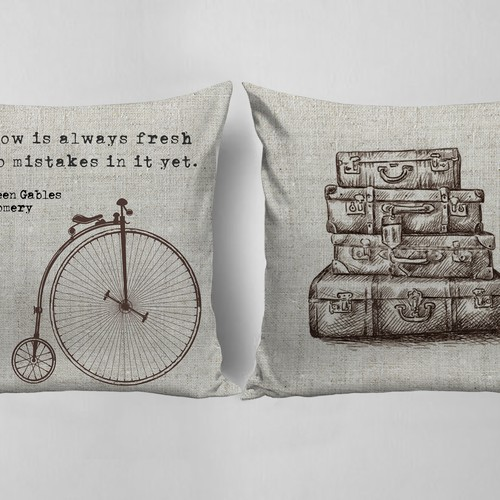 BOOKISH PILLOWS: Peter Pan, Jane Austen and Anne of Green Gables
