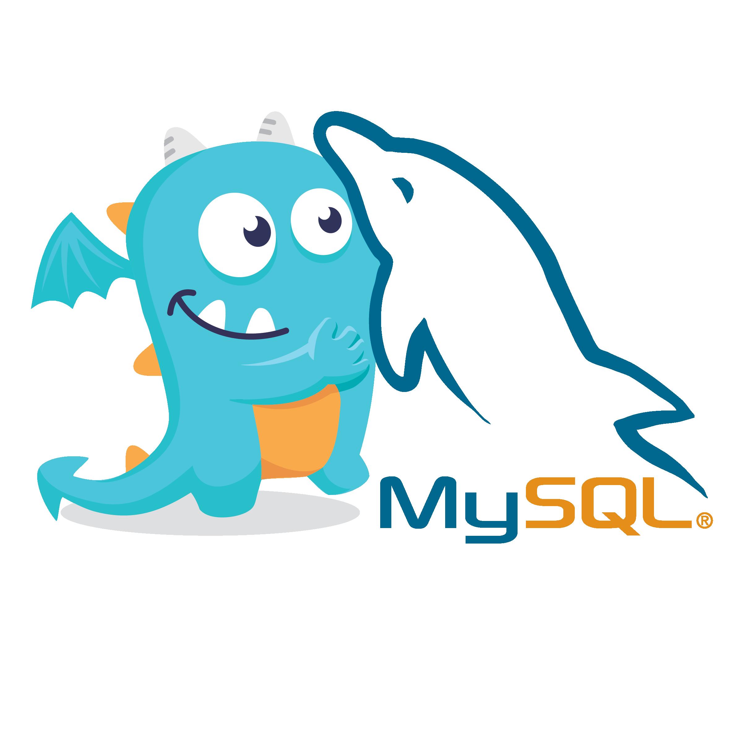 New dragon: with MySQL logo