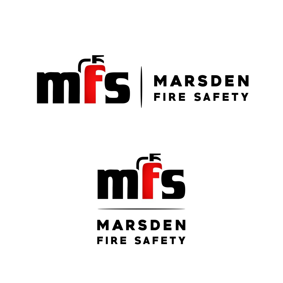 Create a contemporary logo for an established fire safety company.