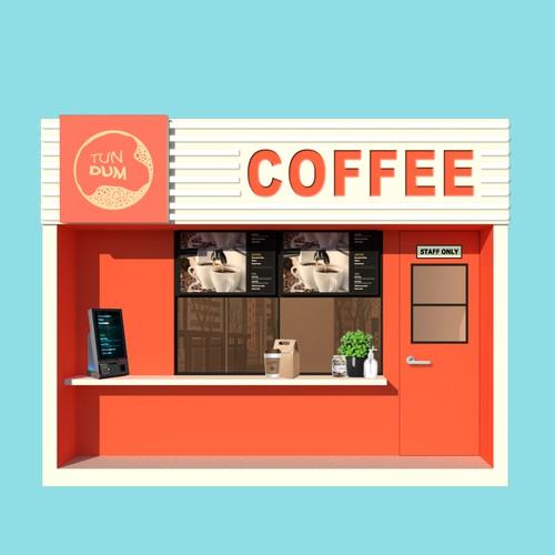 Design of Tundum cafe storefront