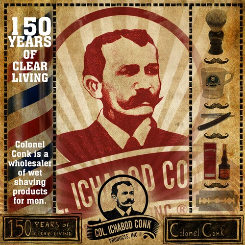 Classic, cool, and old-school!  Shaving company needs new packaging!