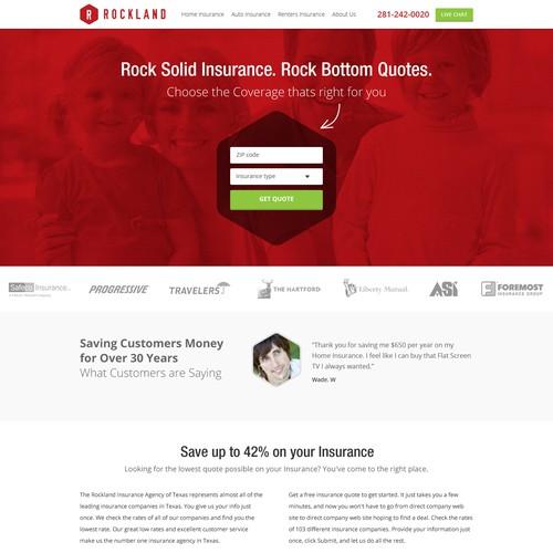 Website Redesign for rockbottomquotes.com