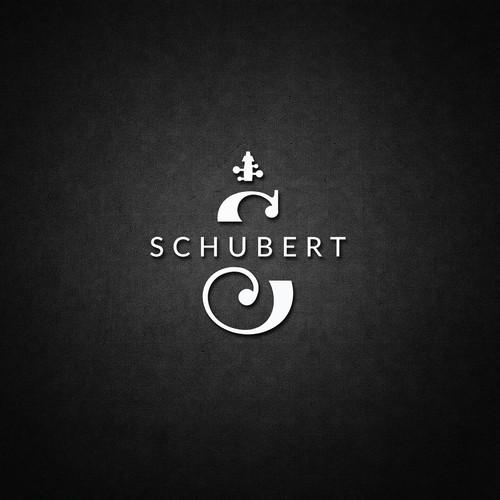 Schubert lounge bar logo design