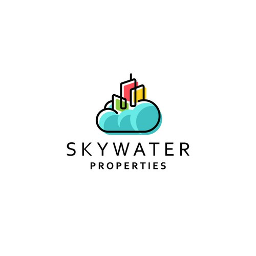 Colorful logo design for Skywater Properties