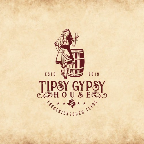 Tipsy Gypsy House Logo