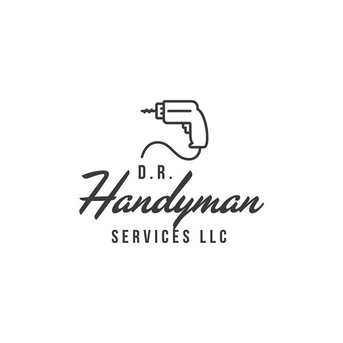vintage logo submission for D.R Handyman Services LLC