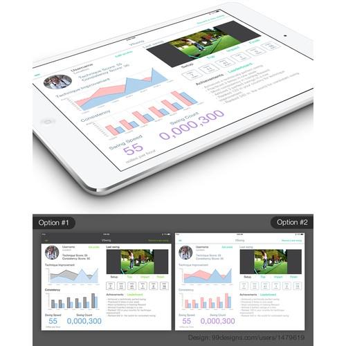 Design a modern Golf iPad App