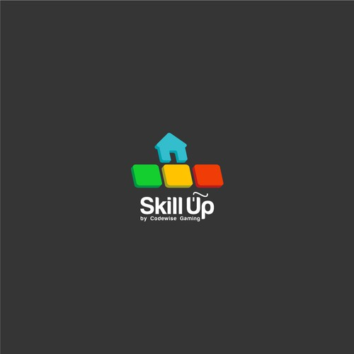 PC gaming house rental logo concept