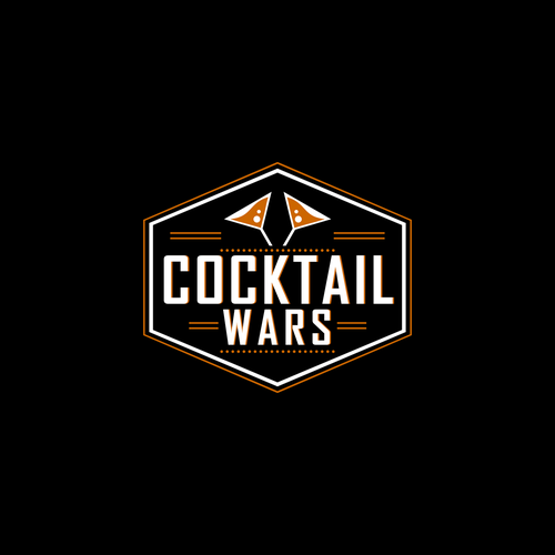 Cocktail Wars Party Logo Design