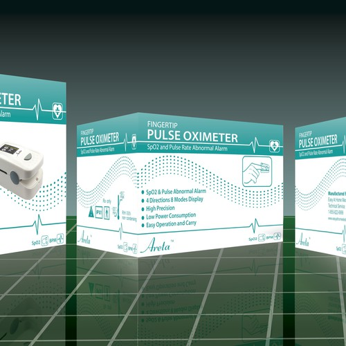 product packaging box design for Pulse Oximeter
